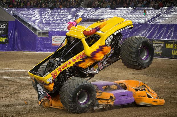 El Toro Loco S Demolition Inside Monster Truck Rallies Cbs News