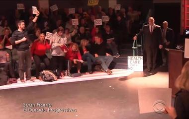 Angry protesters packing congressional town halls