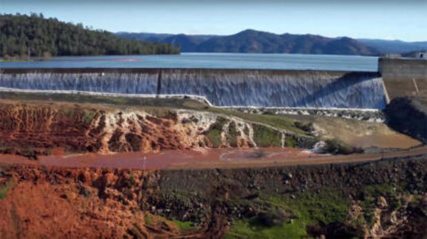 Oroville Dam: Water released over emergency spillway in