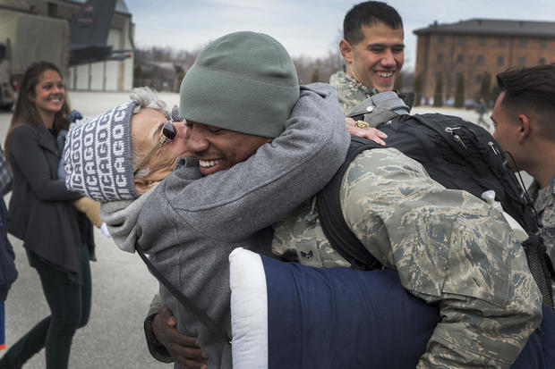 Heartwarming military reunions