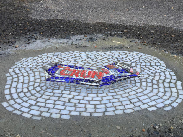 Street art: Jim Bachor's pothole mosaics