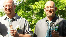 Wayne Wright, left and Mark Sievers