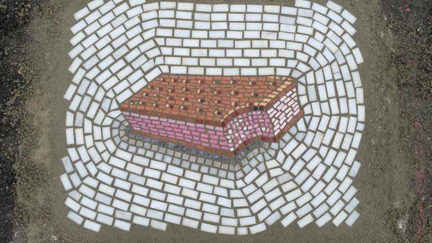 Street art: Jim Bachor's pothole mosaics