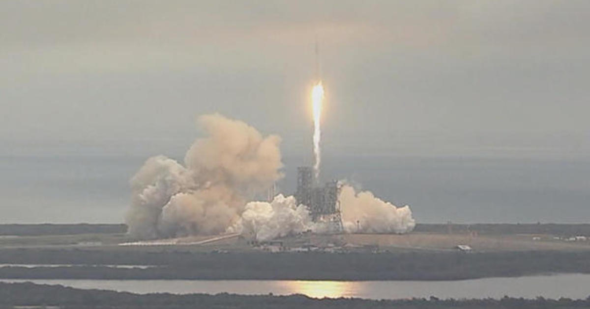 SpaceX rocket launches - CBS News