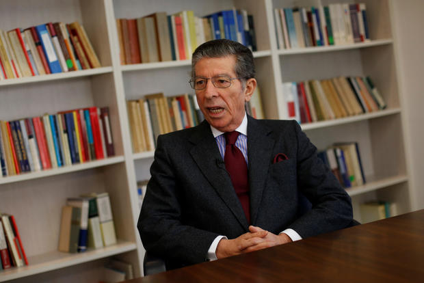 Manuel Magalhaes Silva, the lawyer of former CIA agent Sabrina de Sousa, attends an interview with Reuters in Lisbon