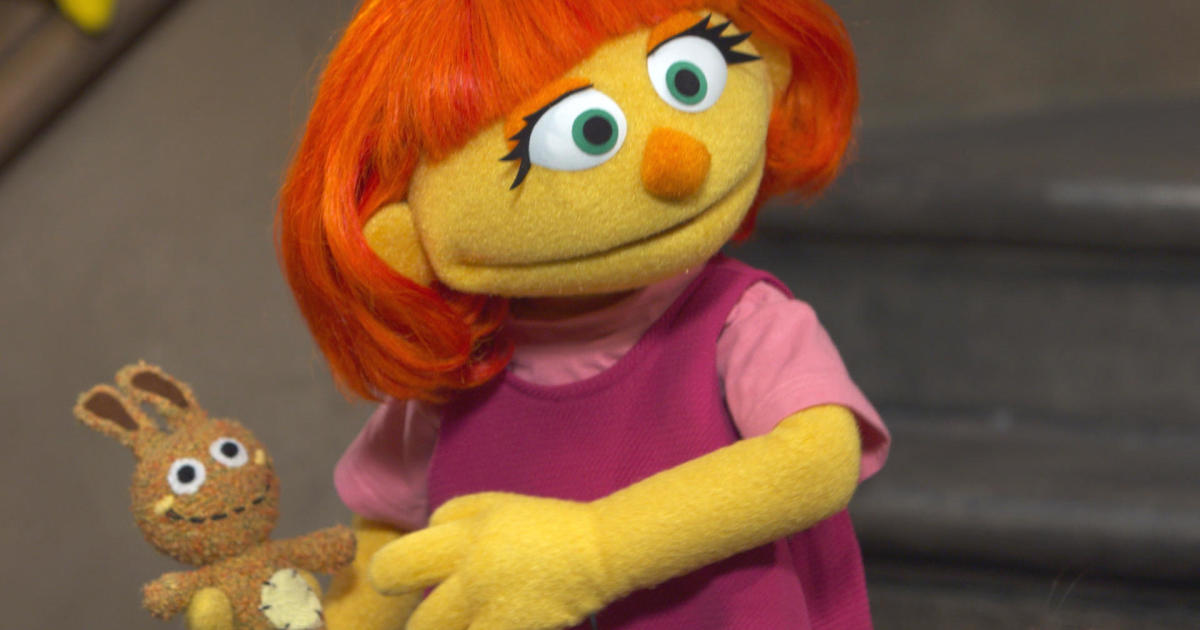 What Muppet With Autism Means To My >> Newest Sesame Street Muppet Has Autism Meet Julia Cbs News