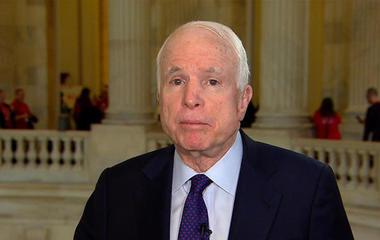 Sen. McCain on Nunes controversy, health care, Russia protests