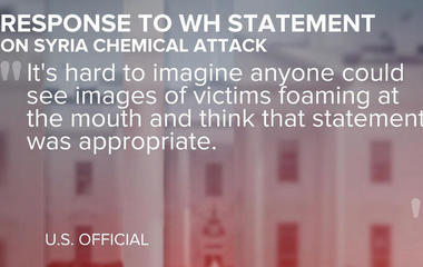 White House condemns Syria gas attack, but points finger at Obama