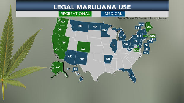Marijuana legalization support at all-time high - CBS News
