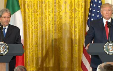 Trump talks North Korea, Paris shooting in joint press conference