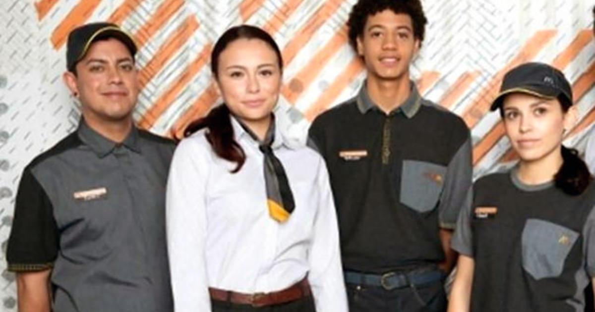 Mcdonalds New Uniform 2020 People are not loving McDonald's new uniforms   CBS News