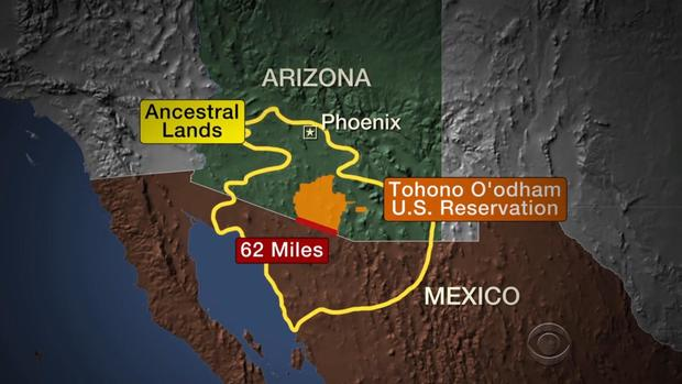 trumps border wall faces another challenge with indian reservation cbs news