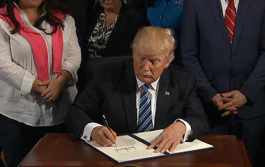 Trump to hit 100 day mark with dozens of executive orders