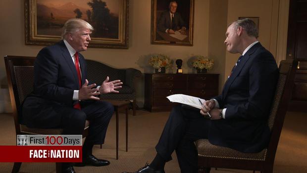 Face The Nation Transcript April 30 2017 President Donald Trump Cbs News
