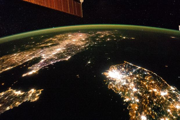 Dark and light north korea hermit country seen from space dark and light north korea hermit country seen from space pictures cbs news gumiabroncs Choice Image