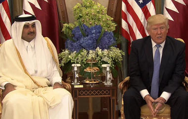Trump continues Middle East trip with calls to end extremism