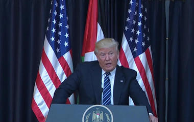 "Trump ""committed"" to Israel-Palestinian peace deal"