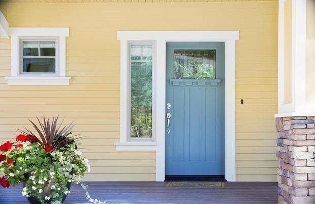 Grey or blue front door: $1,514 - 7 paint colors that can boost the ...