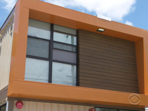 Old shipping containers used to house homeless veterans
