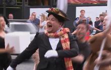 Behind the scenes of James Corden's London shows