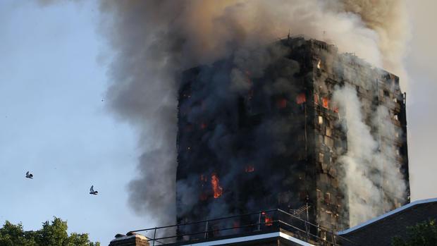 Fire in London high-rise