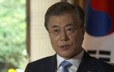 S. Korean President Moon on N. Korea, Warmbier's death, Trump meeting