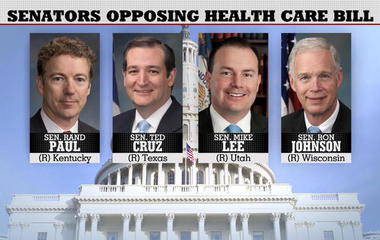 GOP rift as Senate health care bill revealed