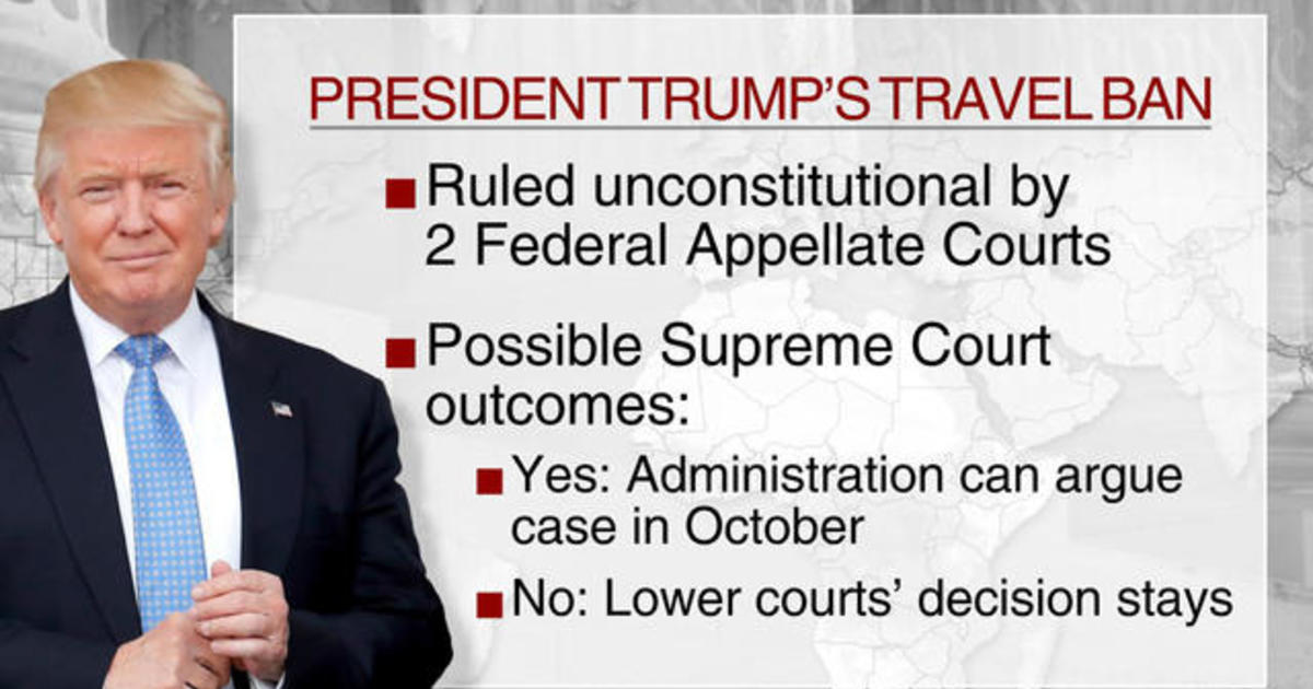 Supreme Court to hear travel ban case - CBS News