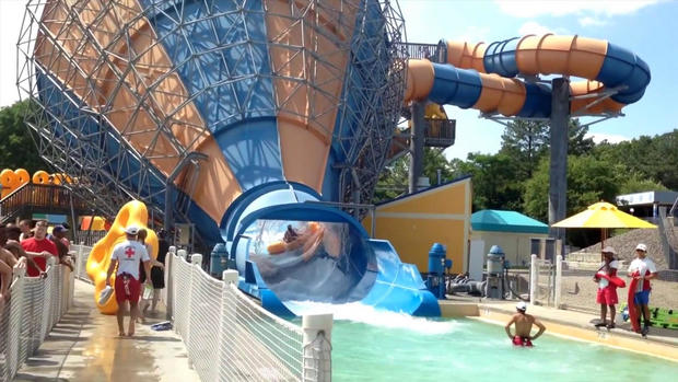 The Tornado at Soak City is seen inside Kings Dominion amusement park in Doswell, Virginia.