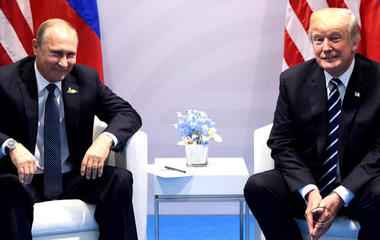"""Trump says he """"pressed"""" Putin on meddling in 2016 election"""