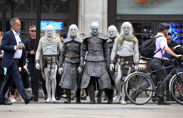 """Game of Thrones"" White Walkers take over London"