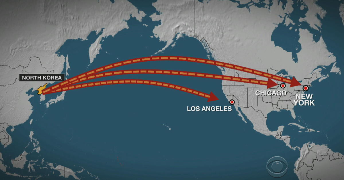 North Korea Tests Missile That Could Threaten Los Angeles Chicago - North korea missile hit map in us