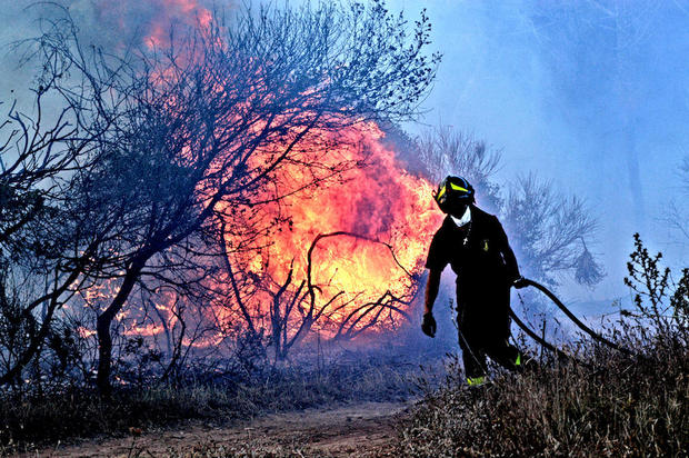 climate change fires in Italy