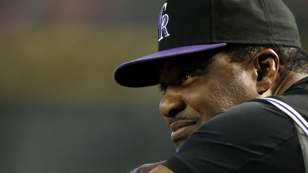 Manager Don Baylor of the Colorado Rockies looks on during a game against the Arizona Diamondbacks at Chase Field on April 8, 2009, in Phoenix, Arizona. The Rockies defeated the Diamondbacks 9-2.
