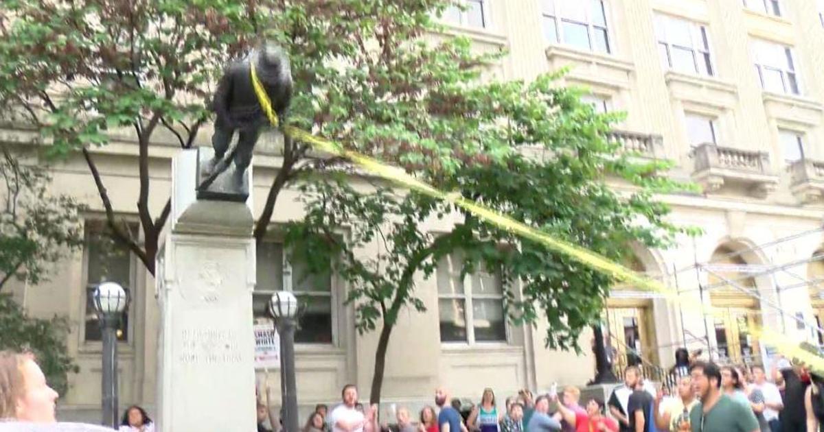 Protesters tear down Confederate statue in Durham, North Carolina