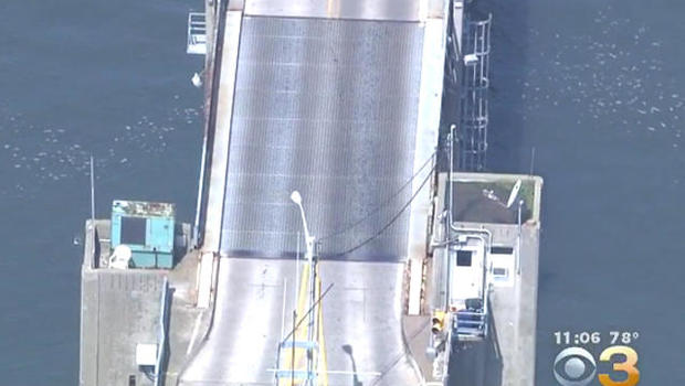 Driver jumps rising drawbridge, operator error blamed