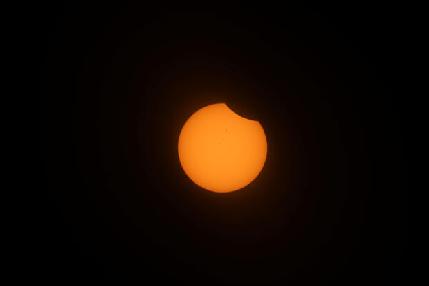 Solar Eclipse from Depoe Bay, Oregon