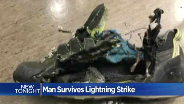 Hiker survives lightning strike that blasted off all his clothes