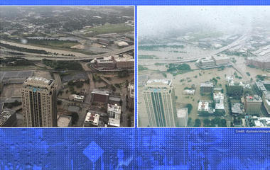 Before-and-after photos reveal Harvey's flooding impact