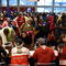 Volunteers with The American Red Cross register evacuees at the George R. Brown Convention Center after Hurricane Harvey inundated the Texas Gulf coast with rain causing widespread flooding, in Houston
