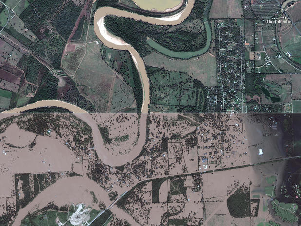 Before and after Harvey's floods