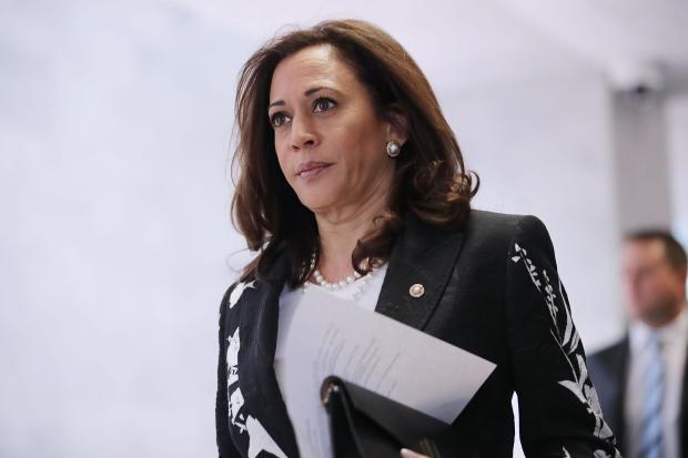 Sen. Kamala Harris, D-California, in Hart Senate Office Building on July 27, 2017