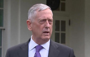 "Defense Secretary Mattis says N. Korea threat would bring ""massive"" military response"
