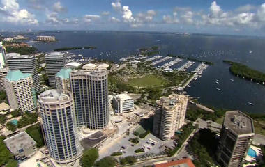 View from above: Hurricane Irma puts Miami seashore in jeopardy