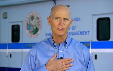 """Florida Gov. Rick Scott: """"You cannot survive"""" the storm surge"""