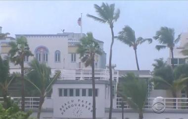 Naples residents failed to evacuate early and now must ride out the storm