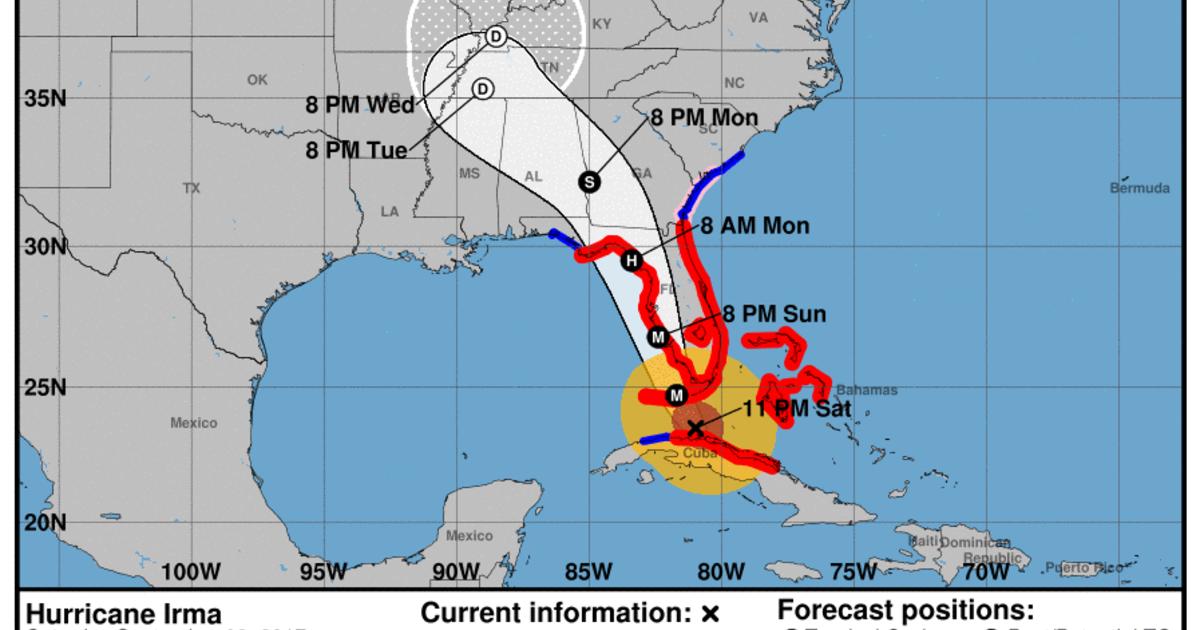 St Petersburg now in Hurricane Irmas crosshairs with westward