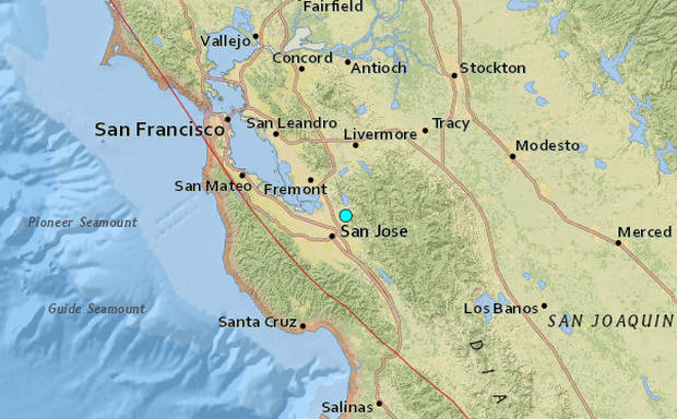 Natural disaster: 3.4 quake strikes near San Jose