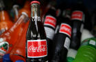 Bottles of soda are displayed in a cooler in a food truck on June 10, 2015, in San Francisco, California.
