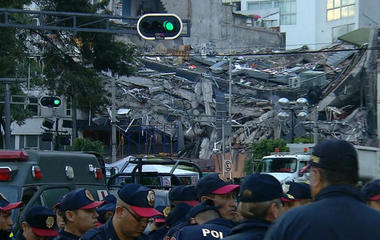Desperate search underway for earthquake survivors in Mexico